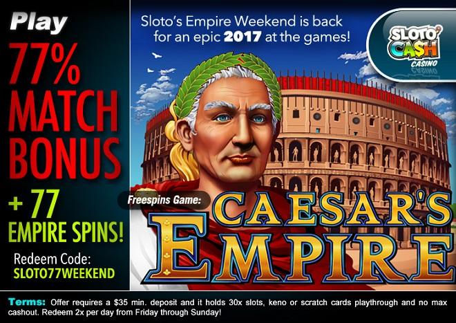 Sloto'Cash Weekend Free Spins
