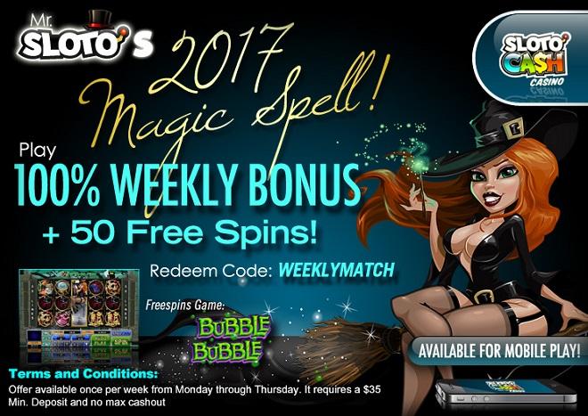 Sloto'Cash Weekly Match